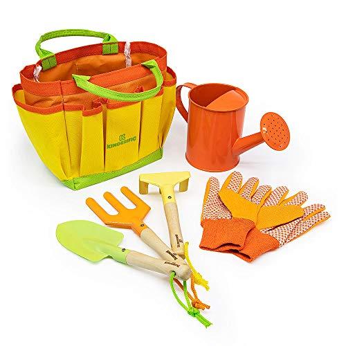Kinderific Gardening Tool Set, Designed for Kids, STEM, Tote Bag, Spade,...
