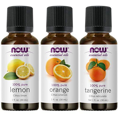 3-Pack Variety of NOW Essential Oils: Citrus Blend - Orange, Tangerine,...
