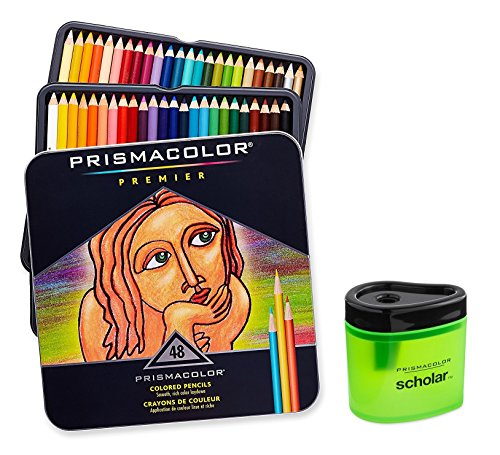 Prismacolor Premier Soft Core Colored Pencil, Set of 48 Assorted Colors...