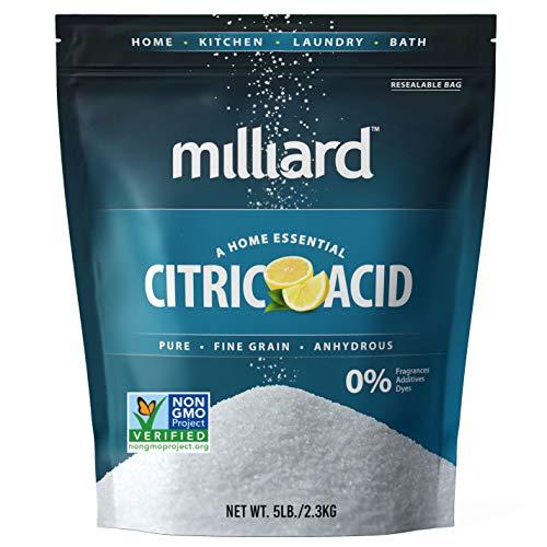 Milliard Citric Acid 5 Pound - 100% Pure Food Grade Non-GMO Project...