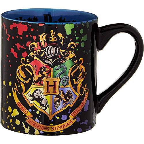 Silver Buffalo HP113932Z Harry Potter Hogwarts Crest Splatter ceramic Mug,...