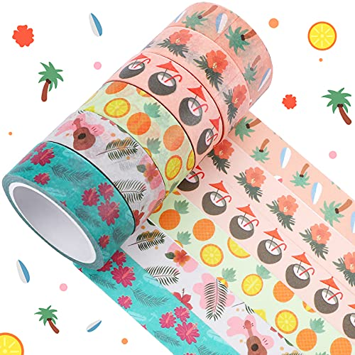 6 Rolls Halloween Washi Tapes Bats Pumpkins Witches Heart for Bullet...
