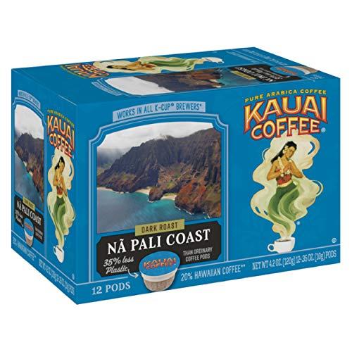 Kauai Coffee Single-Serve Pods, Na Pali Coast Dark Roast – 100% Arabica...