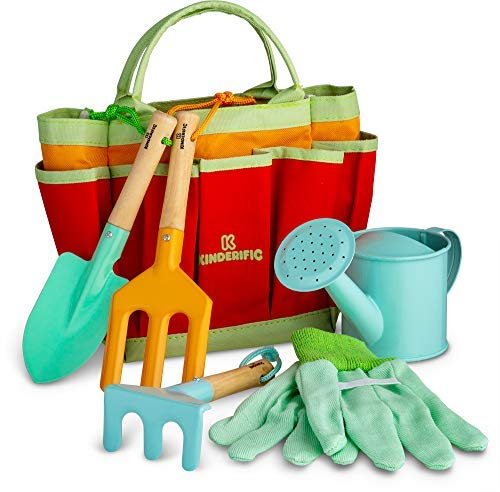 Kinderific Gardening Set, Tool Kit, for Toddlers and Kids 2 Years and up,...