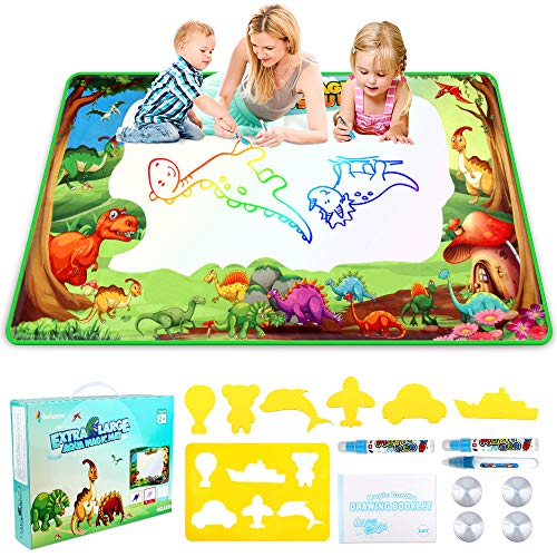 Betheaces Water Doodle Drawing Mat,Dinosaur Play Mats for Kids Extra Large...