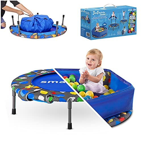 smarTrike Toddler Trampoline with Handle Ages 1-5 Years, Foldable...