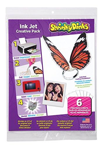 Shrinky Dinks Creative Pack 6 Sheets for Ink Jet Printers Kids Art and...