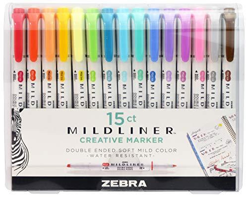 Zebra Pen Mildliner, Double Ended Highlighter, Broad and Fine Tips,...