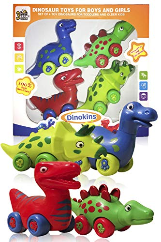 3 Bees & Me Dinosaur Toys for Boys and Girls - 4 Toy Dinosaurs for Kids -...