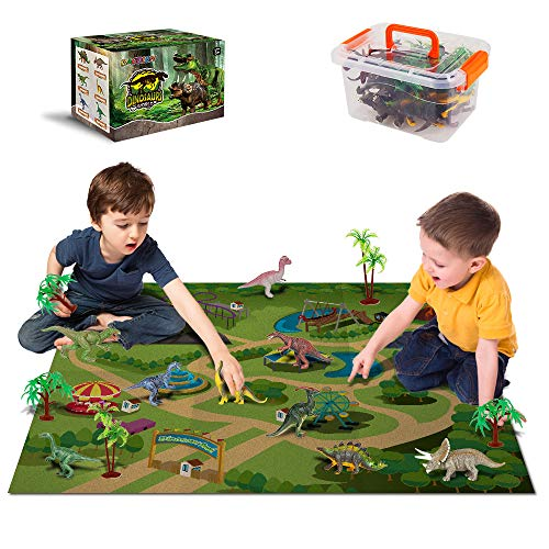 Dinosaur Toys - 12 Realistic Dinosaur Figures, Activity Kids Play Mat &...