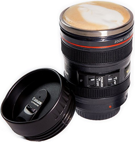 Camera Lens Coffee Mug, Best Photographer Gift, Ideal for Travel, Authentic...