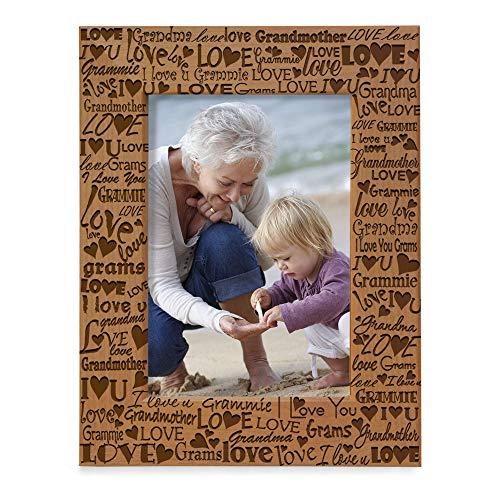 KATE POSH I Love You Grandma, Grammie Engraved Picture Frame, Grandma & Me...