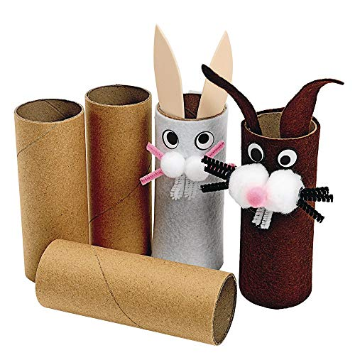 Colorations Recycled Craft Rolls, Cardboard, Sturdy, Set of 24, Tubes, DIY...