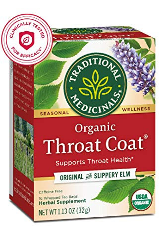 Traditional Medicinals Organic Throat Coat Seasonal Tea (Pack of 1),...