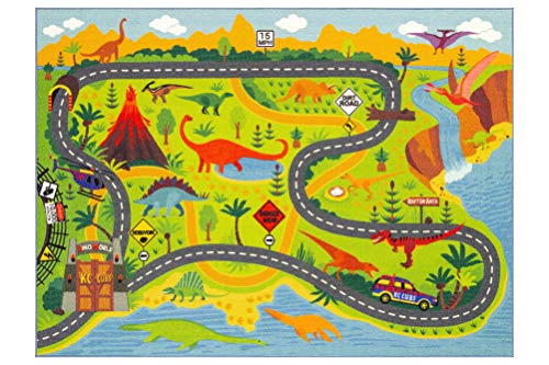 KC Cubs Playtime Collection Dinosaur Dino Safari Road Map Educational...