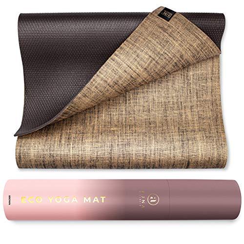 Ajna Eco Organic Yoga Mat - Natural Jute Yoga Mats - Large Non Slip -...