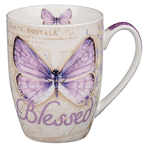 Blessed Butterfly Mug – Botanic Purple Butterfly Coffee Mug w/Jeremiah...