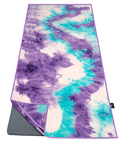 Ewedoos Yoga Towel with Anchor Fit Corners, 100% Microfiber Non Slip Yoga...
