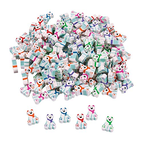 Cute Mini Polar Bear Erasers by Fun Express - Variety of Colors - Erasers -...