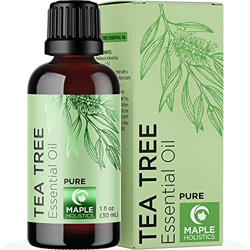 Pure Tea Tree Essential Oil - Pure Tea Tree Oil for Hair Skin and Nails...
