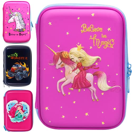 Unicorn Pencil Case for Girls 3D | Pencil Holder for Kids BPA Free | Cute...