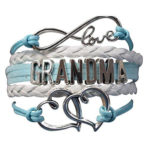 Infinity Collection Grandma Charm Bracelet, Grandma Blue Heart Jewelry...