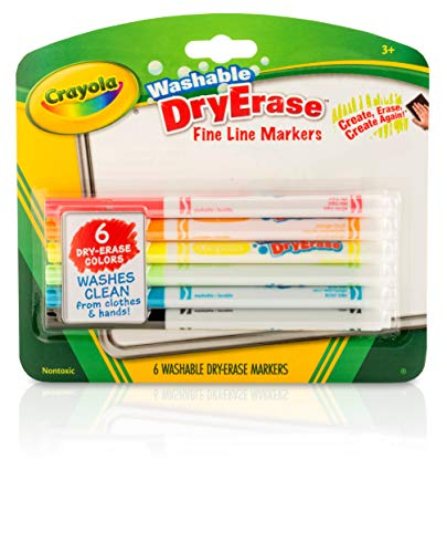 Crayola Dry Erase Markers, Fine Line, Classroom & School Supplies Assorted,...