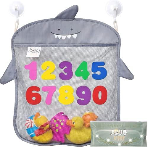 JOJOOKIDS Bath Toy Storage Set of 2 + 10 Eco-Safe Foam Numbers   Bath Toy...