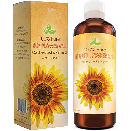 Pure Sunflower Seed Oil For Skin & Hair - Cold Pressed Refined Essential...