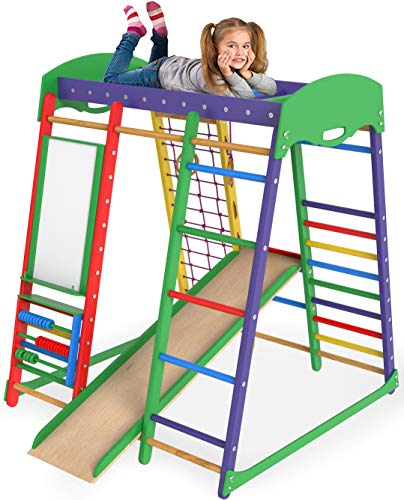 Jungle Gym Indoor Playground - Slide for Kids Playset - Kid Jungle Gym...