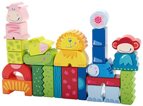 HABA Eeny, Meeny, Miny Zoo! 25 Piece Mix & Match Animal Blocks (Made in...