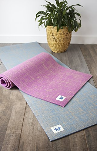 Lottus Life Natural Jute Fiber Premium Yoga & Exercise Mat with Strap Extra...