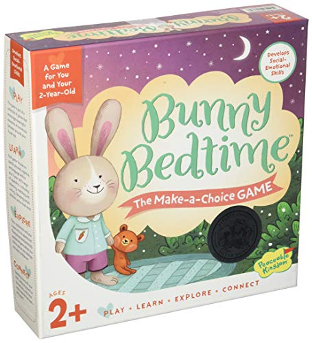 Peaceable Kingdom Bunny Bedtime The Make a Choice Game for You and Your 2...