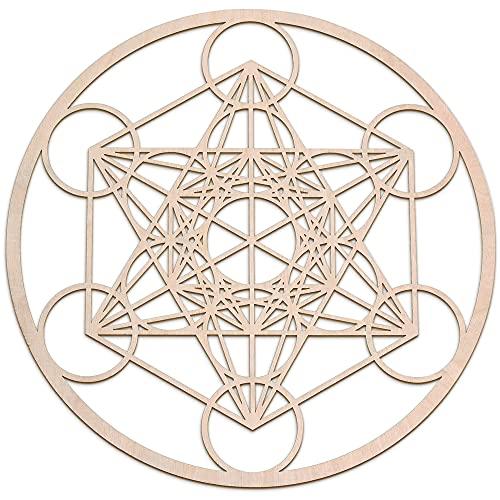 "Fourth Level MFG 12"" Metatron's Cube, Sacred Geometry Wood Wall Art, Zen..."