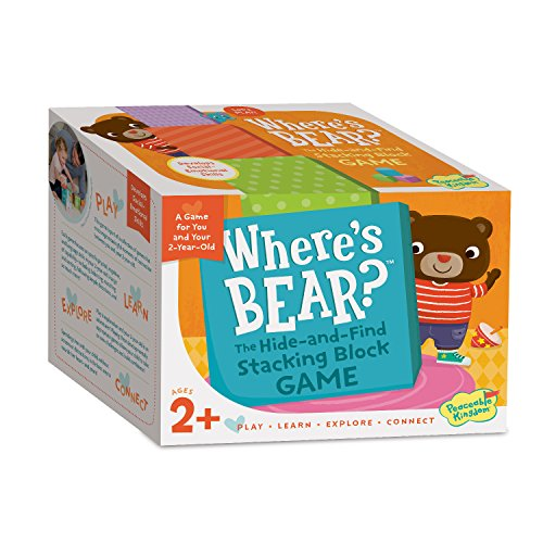 Peaceable Kingdom Where's Bear? The Hide and Find Stacking Block Game for 2...