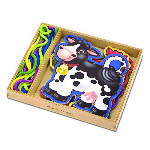 Melissa & Doug Lace and Trace Activity Set: 5 Wooden Panels and 5 Matching...