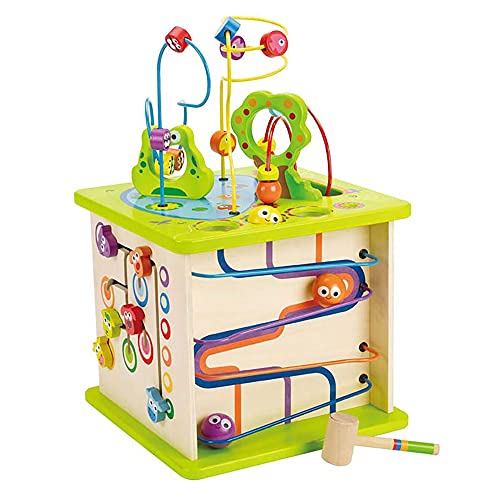 Country Critters Wooden Activity Play Cube by Hape   Wooden Learning Puzzle...