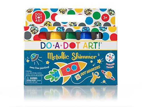 Kids Washable Dot Art Markers - New Metallic Shimmer Paint Daubers...