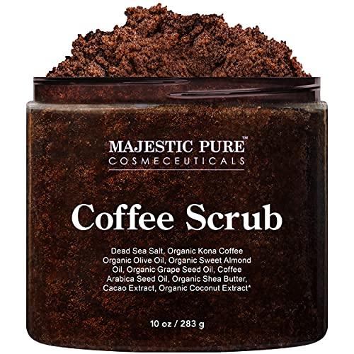 Majestic Pure Arabica Coffee Scrub - All Natural Body Scrub for Skin Care,...