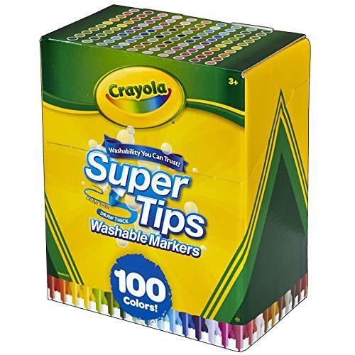 Crayola Super Tips Marker Set, Washable Markers, Assorted Colors, Art Set...