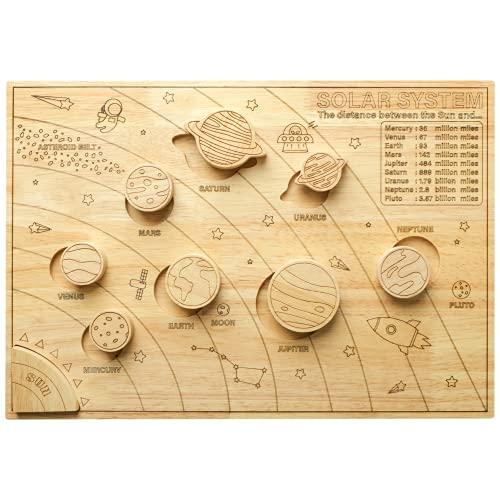 BLUE GINKGO Solar System Model Board - Wooden Science STEM Montessori Toys...