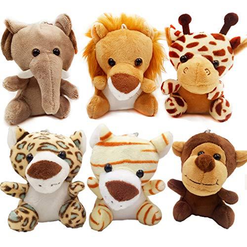 OuMuaMua 6pcs Jungle Animal Plush Toys Stuffed Animals Set, 4.8 Inch Cute...