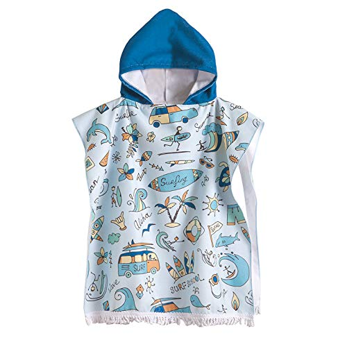 CADITEX Kids Beach Bath Towels for Age 2-7 Years - Swim Pool Coverup Poncho...