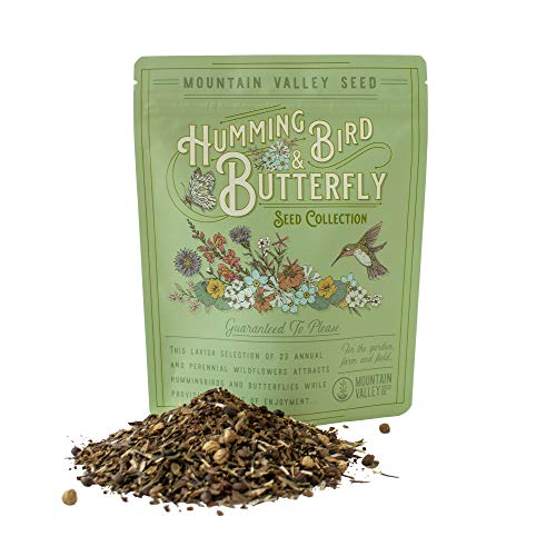 Package of 80,000 Wildflower Seeds - Hummingbird and Butterfly Wild Flower...