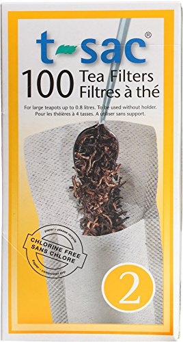 Modern Tea Filter Bags, Disposable Tea Infuser, Size 2, Set of 100 Filters...