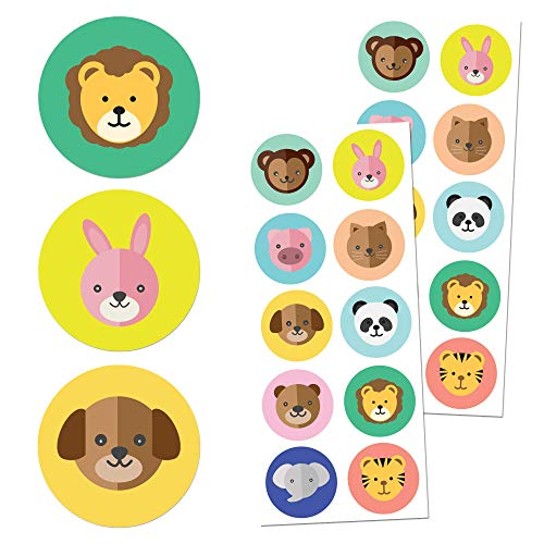 """Farm Animal Stickers for Kids, 1.5"""" - 20 Sheets, 200 Stickers"""