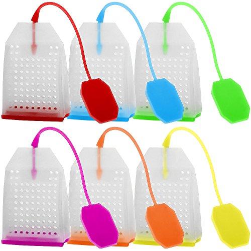 6 Pack Silicone Tea Infuser, FineGood Reusable Safe Loose Leaf Tea Bags...