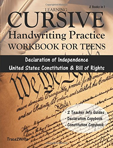 Learning Cursive: Handwriting Practice Workbook for Teens: With Declaration...