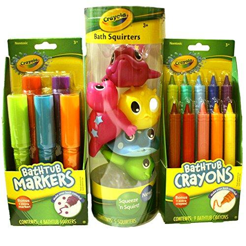 """""""Crayola Bath Time Fun Bundle Including Bathtub Markers, Bathtub Crayons..."""