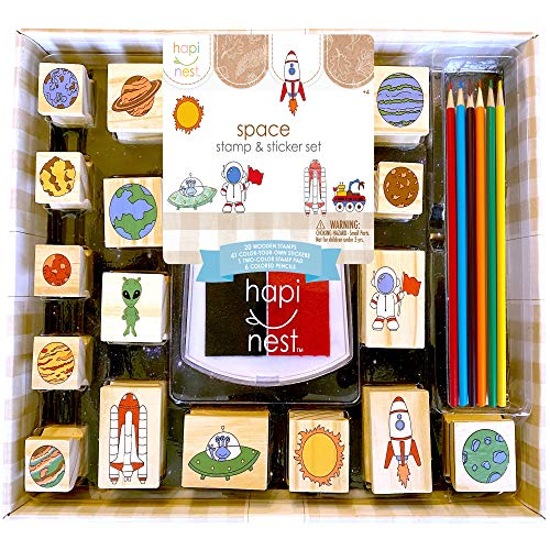 Hapinest Space Stamp and Sticker Activity Set for Kids Boys and Girls Ages...